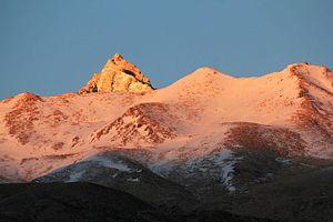 Geography of Himachal Pradesh - View of Reo Purgyil, highest peak in Himachal Pradesh