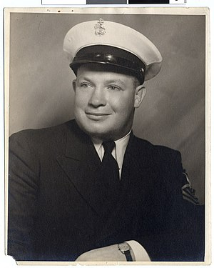 Butch Levy - Levy in his Navy uniform