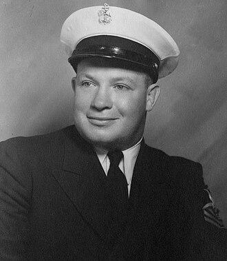 Butch Levy - Levy in his Navy uniform