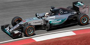 Mercedes F1 W06 Hybrid - Image: Lewis Hamilton 2015 Malaysia FP2 1