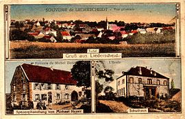 Postcard views of Liederschiedt in 1931