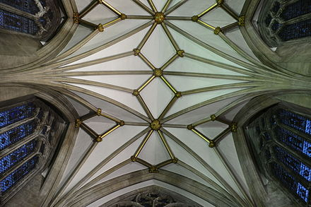 Lierne ribs in the vaults of Bristol Cathedral Lierne ribs.JPG