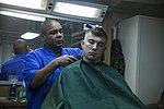 Life on the ship, Barber Shop 160308-M-CX588-031.jpg