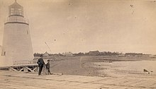 Lighthouse at St Andrews circa 1895.jpg