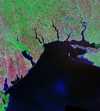 Liman (landform) - Landsat satellite photo of limans along the Black Sea coast
