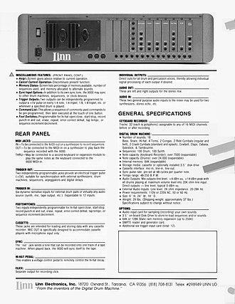 Linn 9000 - Image: Linn 9000 brochure page 4 300dpi 2550 3300