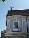 Listed Post Office, balcony. - Kossuth Street, Keszthely, 2016 Hungary.jpg
