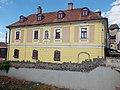 Listed Ruzsin-Offenbacher house in Dobó Square, Eger, 2016 Hungary.jpg