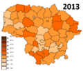Lithuania unemployment in 2013.png
