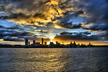 English: Liverpool Waterfront at Sunrise - Dav...