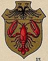 Lobster in 1899 art detail, from book- Ströhl Heraldischer Atlas t17 3 (cropped).jpg