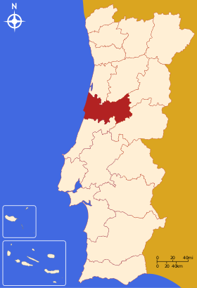 Localisation du district de Coimbra