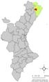 Localització de Sant Mateu respecte del País Valencià.png