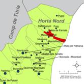 Localització de la Pobla de Farnals respecte de l'Horta Nord.png