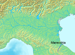 Map of the Marecchia river