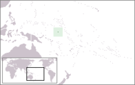 A map showing the location of Nauru