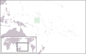 Geography of Nauru - Image: Location Nauru