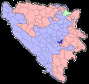 Map of Bosnia and Herzegovina (Sarajevo)