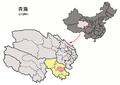 Location of Gadê within Qinghai (China).png