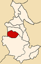Location of the province Huanca Sancos in Ayacucho.png