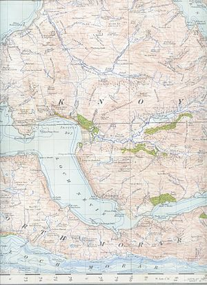 Loch Nevis - Image: Loch Nevisand surroundings map 1947