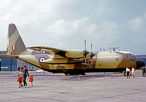 No. 24 Squadron RAF - Lockheed Hercules of 24 Squadron in 1968