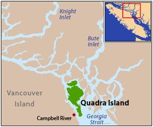 Quadra Island - Image: Locmap quadraisland