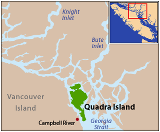 Quadra Island island in British Columbia, Canada
