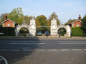 Oatlands Palace - Lodges and entrance gates to Oatlands Park Hotel