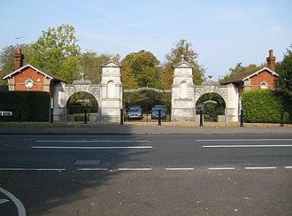 Oatlands Palace - Lodges and entrance gates to Oatlands Park Hotel