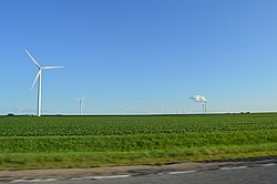 Turbines at the Rail Splitter Wind Farm