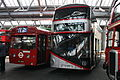 London buses MBA582 & LT272, 2014 Walworth bus garage open day.jpg