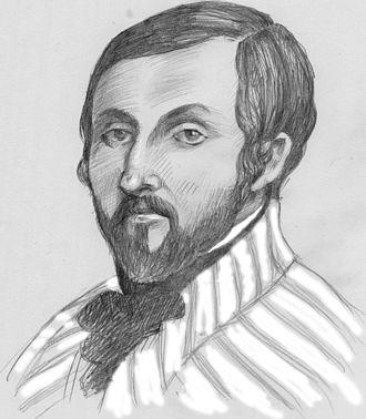 Louis-Anselme Longa - Portrait of L.A. Longa, crayon and gouache