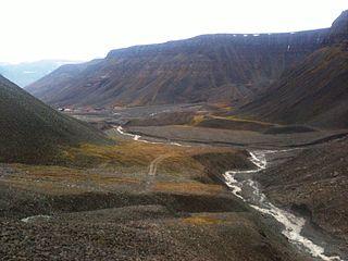 valley in Svalbard, Norway