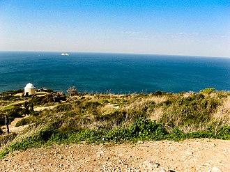 Stella Maris Monastery - Image: Looking northwards near stella maris monastery, haifa, israel