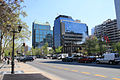 Looking west along Avenida Apoquindo from the El Golf Metro, Santiago (5125548939).jpg