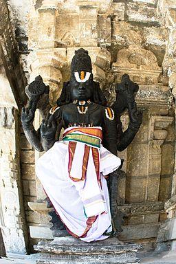 Lord Vishnu at Varadharaja Perumal Temple