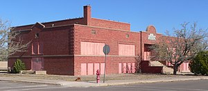 National Register of Historic Places listings in Hidalgo County, New Mexico - Image: Lordsburg, NM, old high school from SE 1