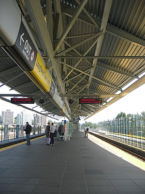 Lougheed Town Centre station - Image: Lougheed stn platform