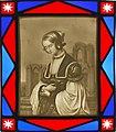 """Louis Ammy Blanc (1810-1885) """"Die Kirchgängerin"""", Lithophanie Meißen, D2015-1.jpg"""