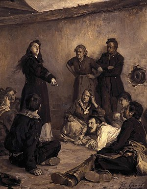 Jules Girardet - Louise Michel at Satory in 1871 (date unknown)