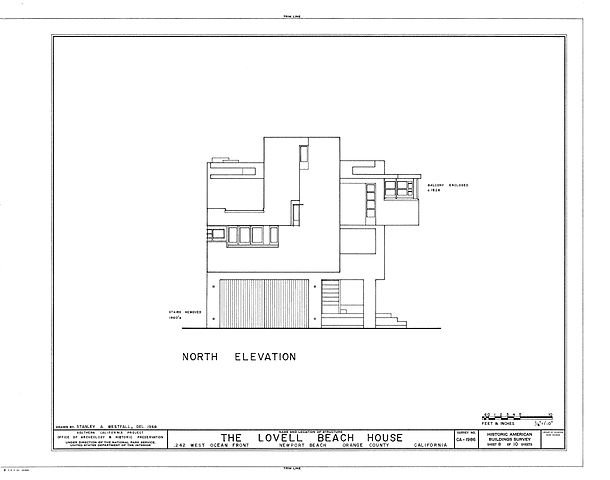 N Elevation Of Home : File lovell beach house drawing g wikimedia commons