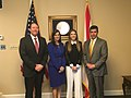 Lt Gov Núñez, The DeSantis and Fabiana Rosales at Tallahassee (3).jpg