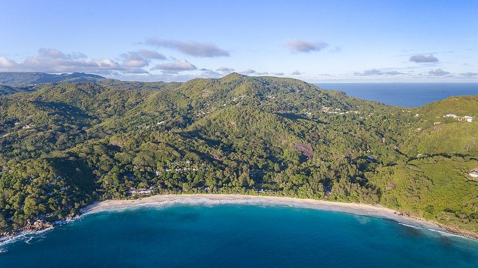 Luftbild Anse Intendance Strand Mahe Seychellen (24751376957)