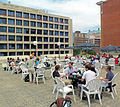 Lunch on the roof at Wikimania 2012, Day 1.jpg