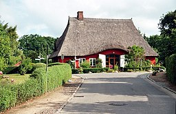 Lutterbek, reed-thatched house