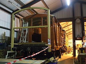 Midland and Great Northern Joint Railway - Preserved brake van number 12 being restored for the North Norfolk Railway