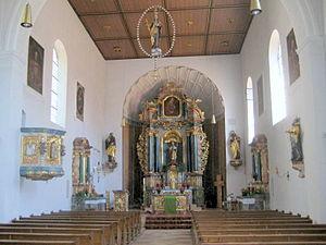 Münchsmünster - Image: Münchsmünster, Inneres der kath. Pfarrkirche St.Sixtus