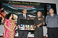 """M.M. Pallam Raju releasing the books """"North East Trilogy"""", at MCEME Secunderabad on March 05, 2012. The Chief of the Army Staff, General V.K. Singh and Authors, Mrs. Dipti Bhalla and Shri Kunal Verma are also seen.jpg"""