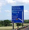 M25, junction 29 sign - geograph.org.uk - 2028367.jpg